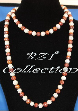 8.0-8.5 mm 50'' Freshwater Pearl Necklace (NH033-1)